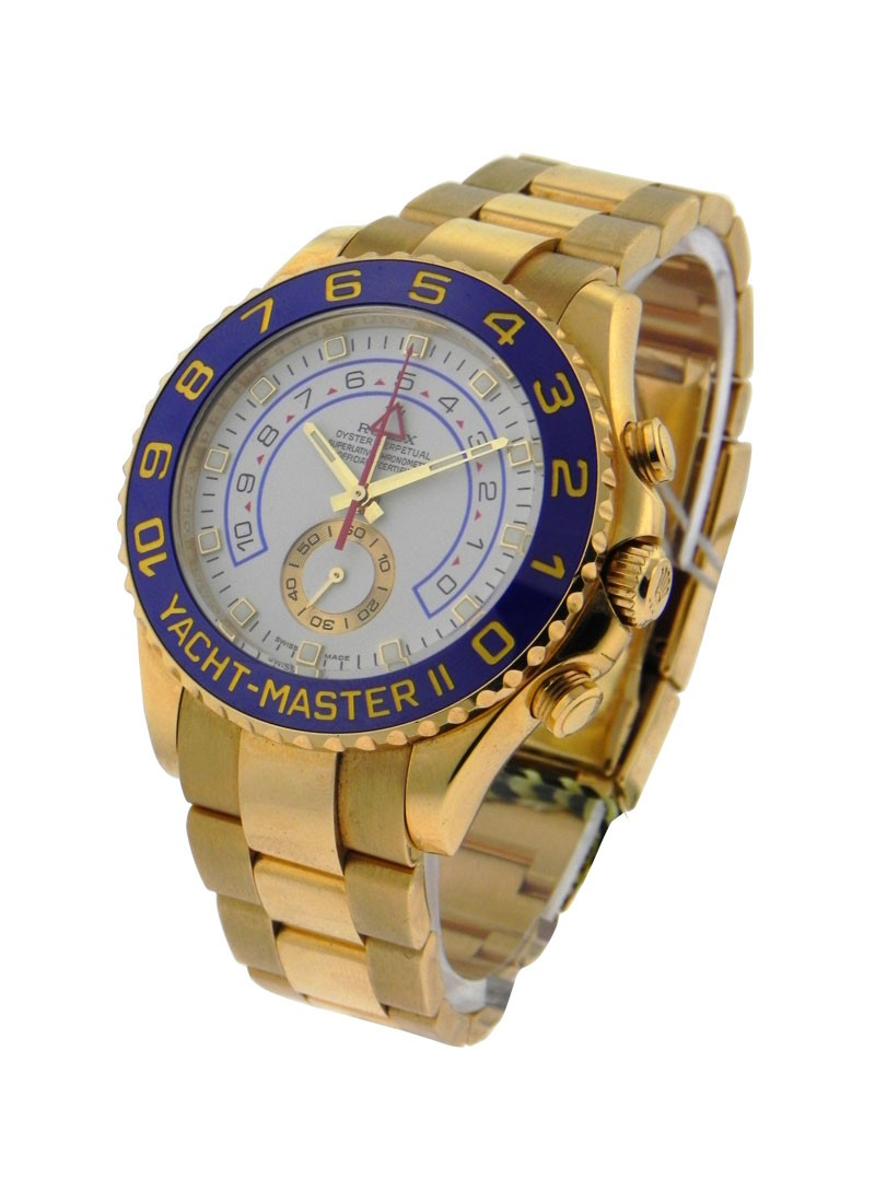 Pre-Owned Rolex Yacht-Master II 44mm Large Size in Yellow Gold with Blue Bezel