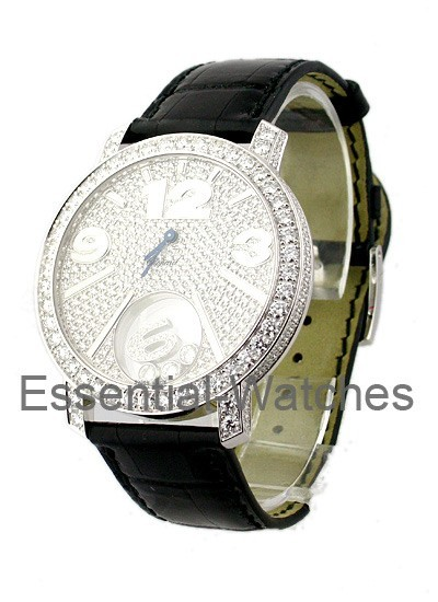 Chopard Happy Sport White Gold - Full Pave Diamonds