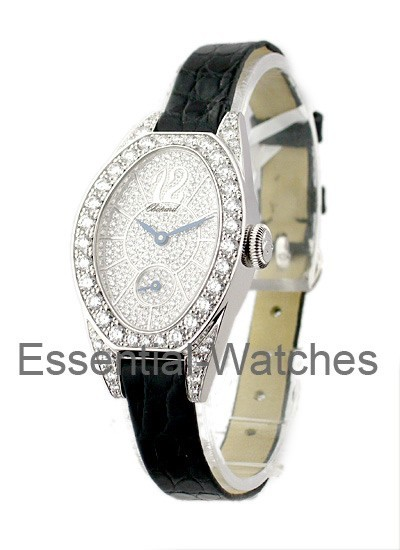 Chopard Ovale Lady's Classique - Pave Diamond Dial and Case
