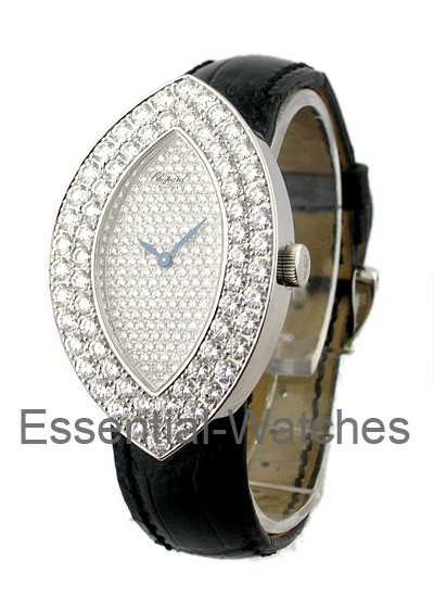 Chopard Lady's White Gold Ovale with Diamond Case