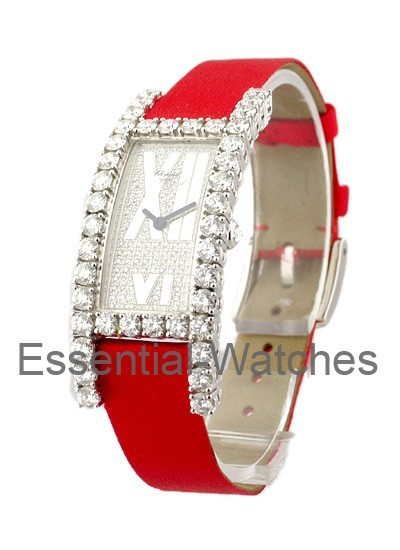 Chopard Lady's Ellongated H Watch with Diamond Case