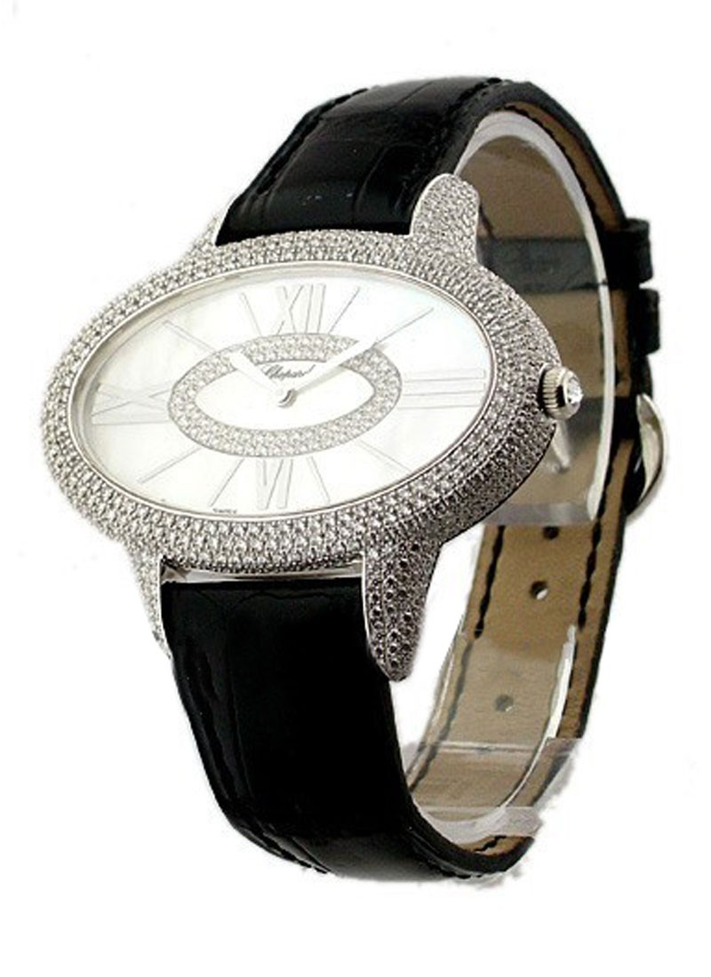 Chopard Boutique  Oblong  Edition in White Gold with Diamond Case