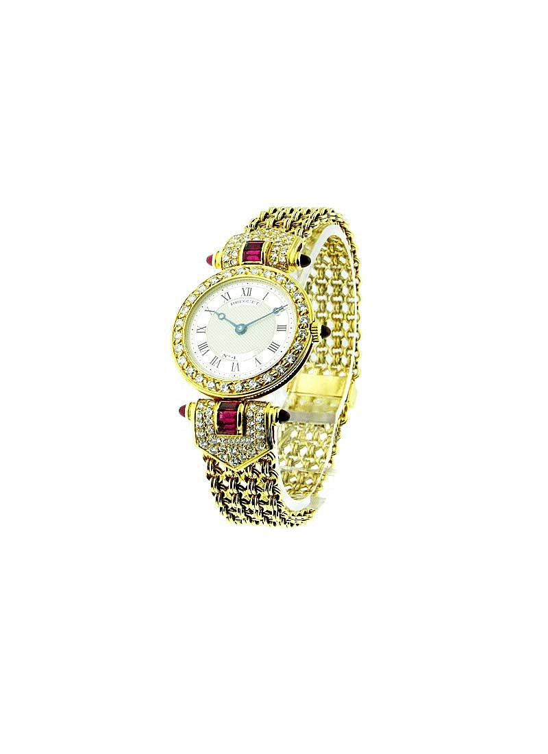 Breguet Classique in Yellow Gold with Ruby and Diamond Lugs and Diamond Bezel