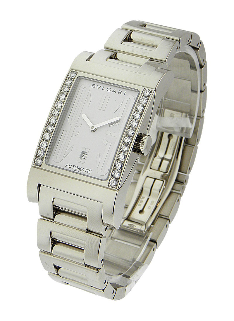Bvlgari Rettangolo White Gold with Diamond Case