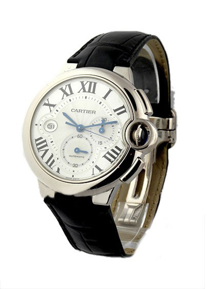 Cartier Ballon Bleu Chronograph in White Gold    Large Size