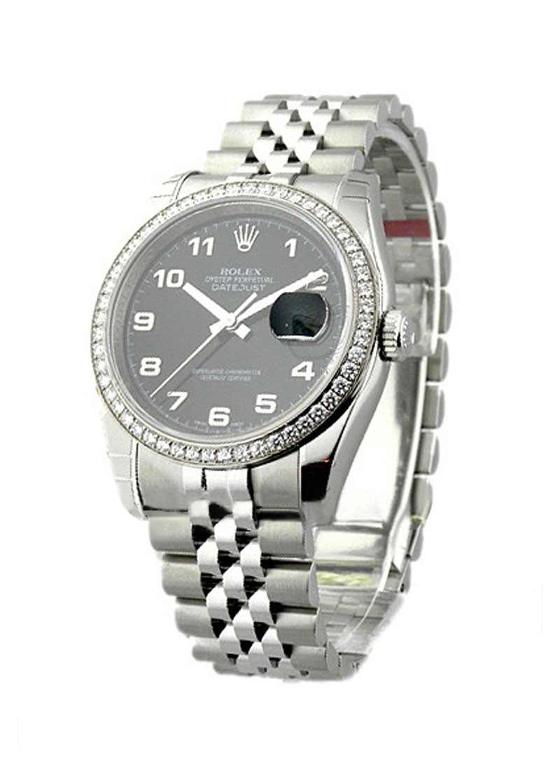 Rolex Unworn Men's Datejust with Jubilee Bracelet and Diamond Bezel