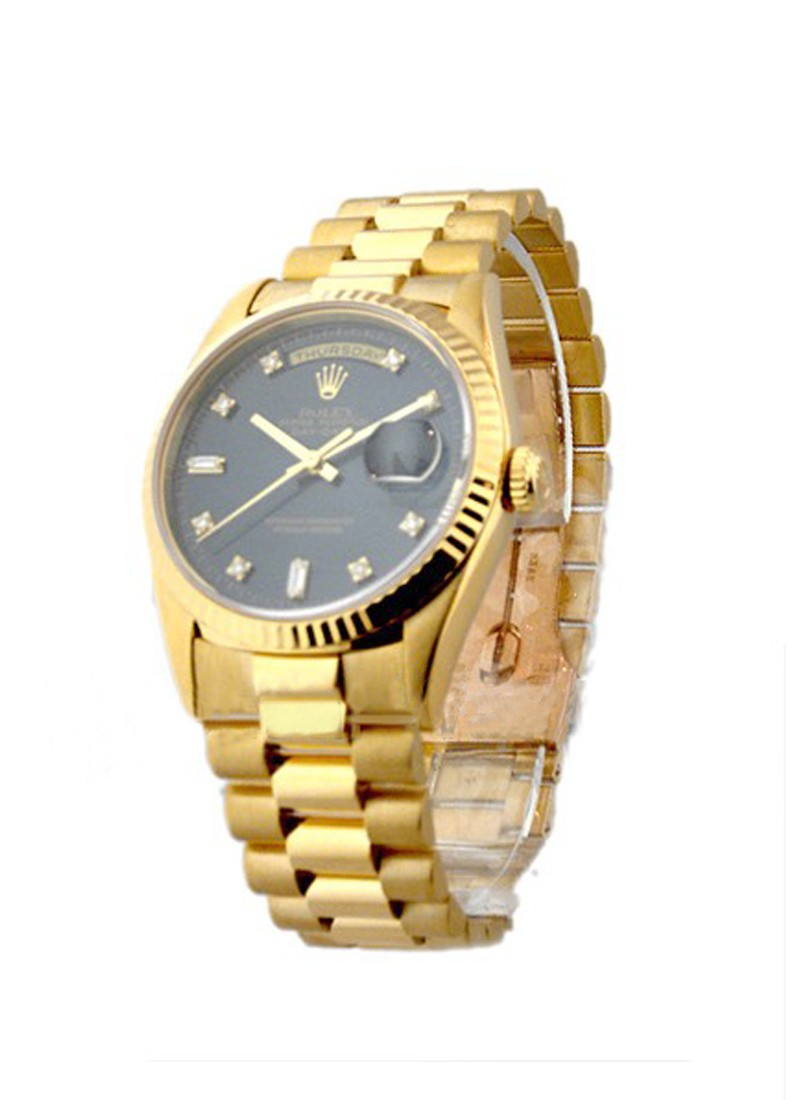 Pre-Owned Rolex Day-Date - President - Yellow Gold - Fluted Bezel