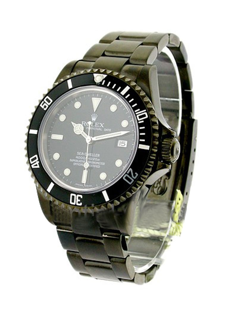 Rolex Used Sea Dweller with Custom Black PVD 16600