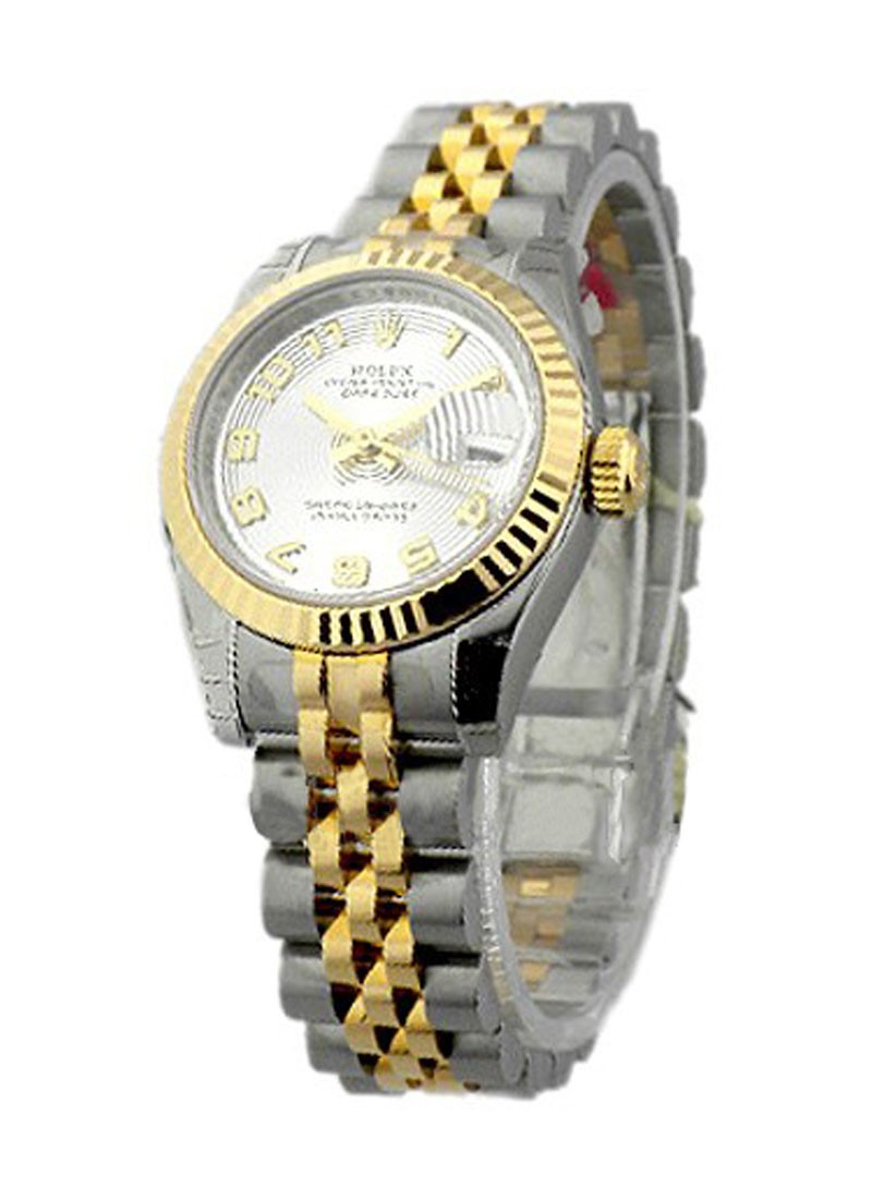 Rolex Unworn Datejust Ladies 26mm in Steel with Yellow Gold Fluted Bezel