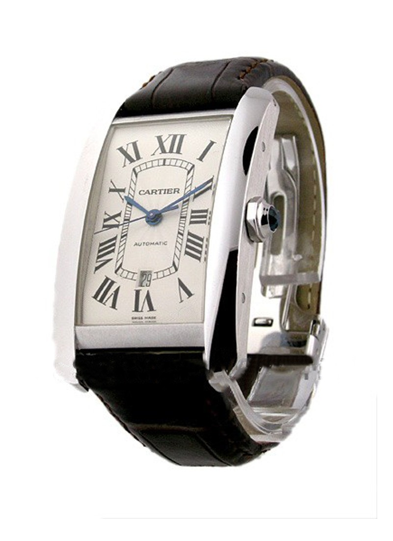 Cartier Tank Americaine in White Gold - XL