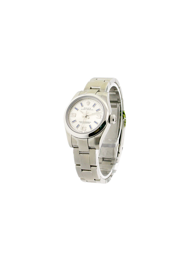 913c14b1044 176200_used_silver_arabic Rolex Oyster Perpetual No Date Ladies No ...