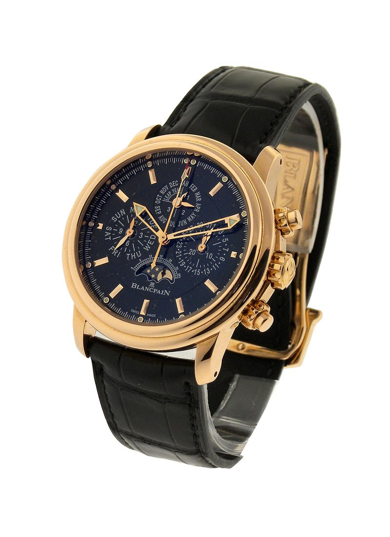 Blancpain Leman Flyback Chrono Perpetual Calendar with Moonphase 40mm Automatic in Rose Gold