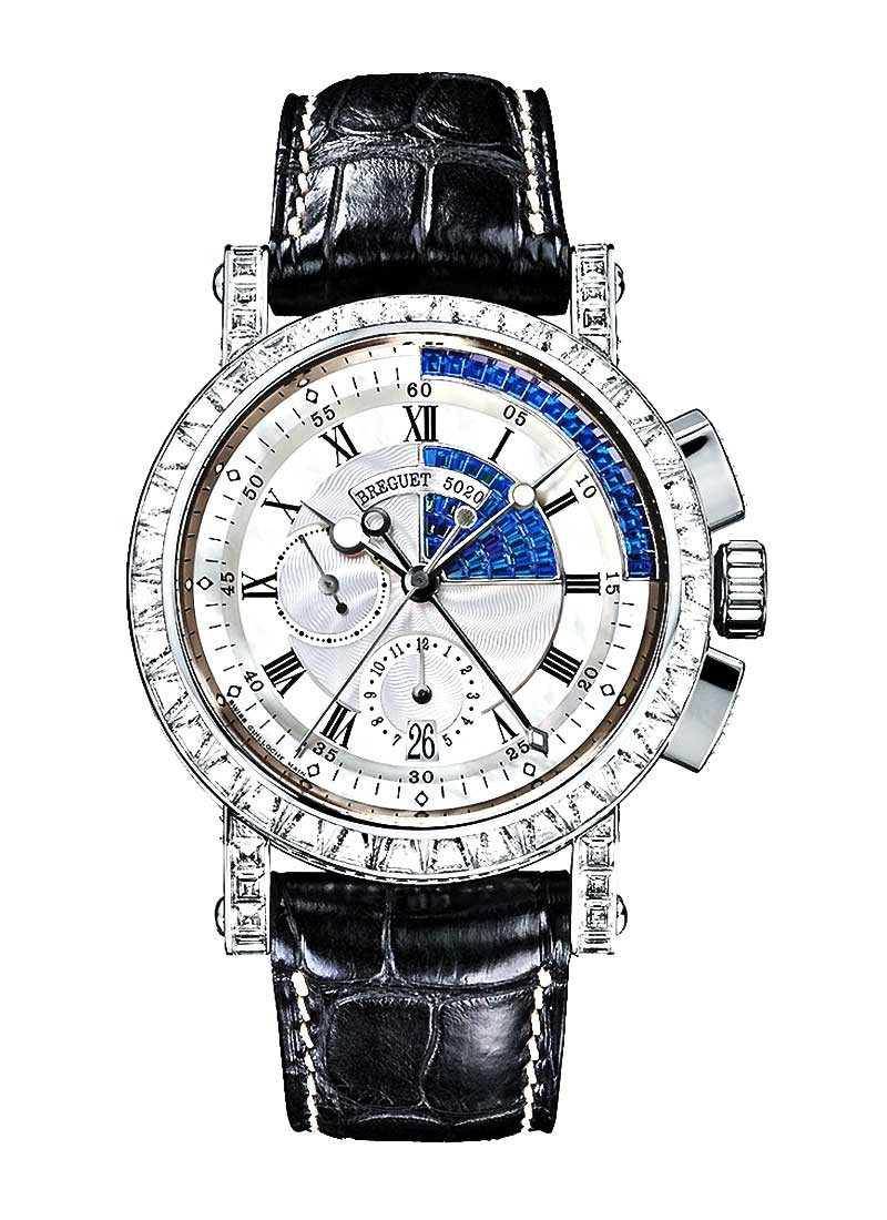 Breguet Marine Chronograph in White Gold with Baguette Diamonds