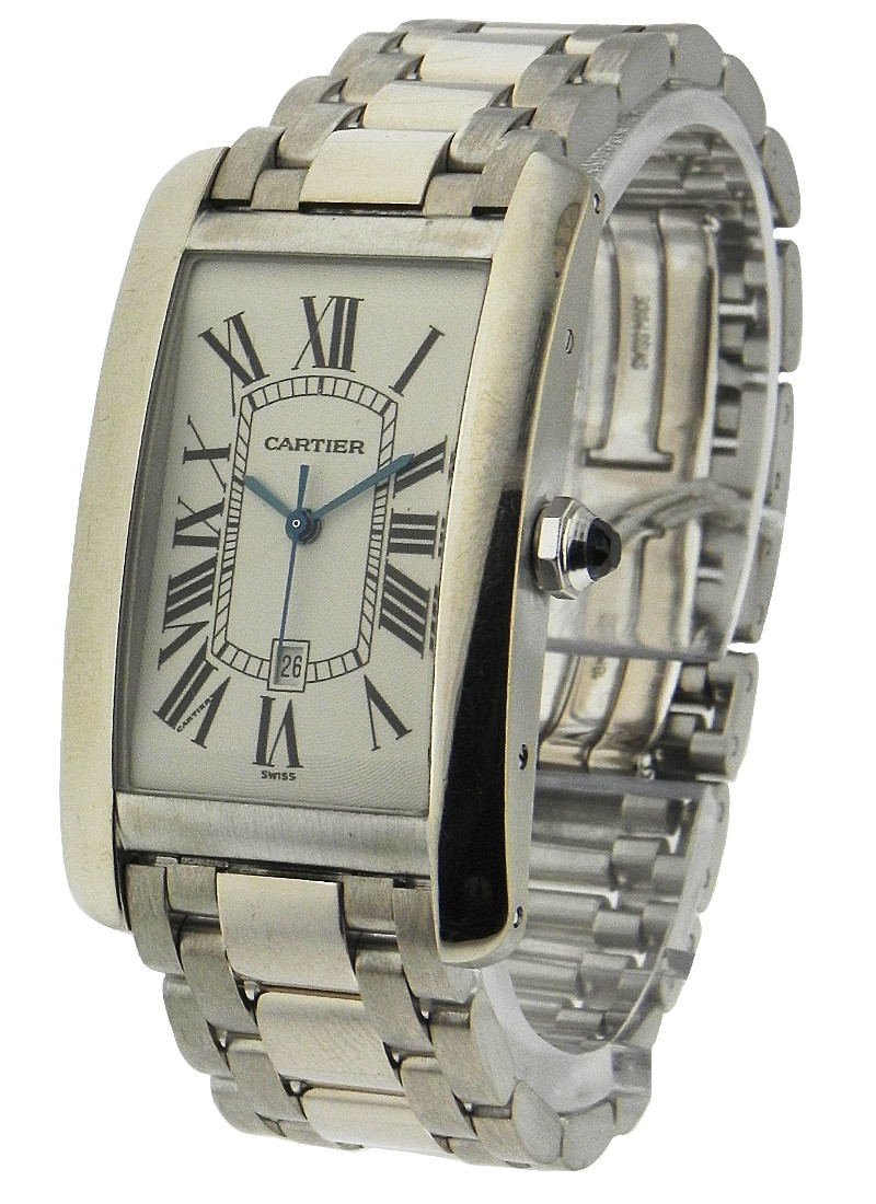 Cartier Tank Americaine Large Size in White Gold
