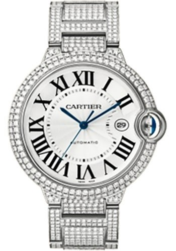 Cartier Ballon Bleu 42mm Automatic in White Gold with Diamond Bezel