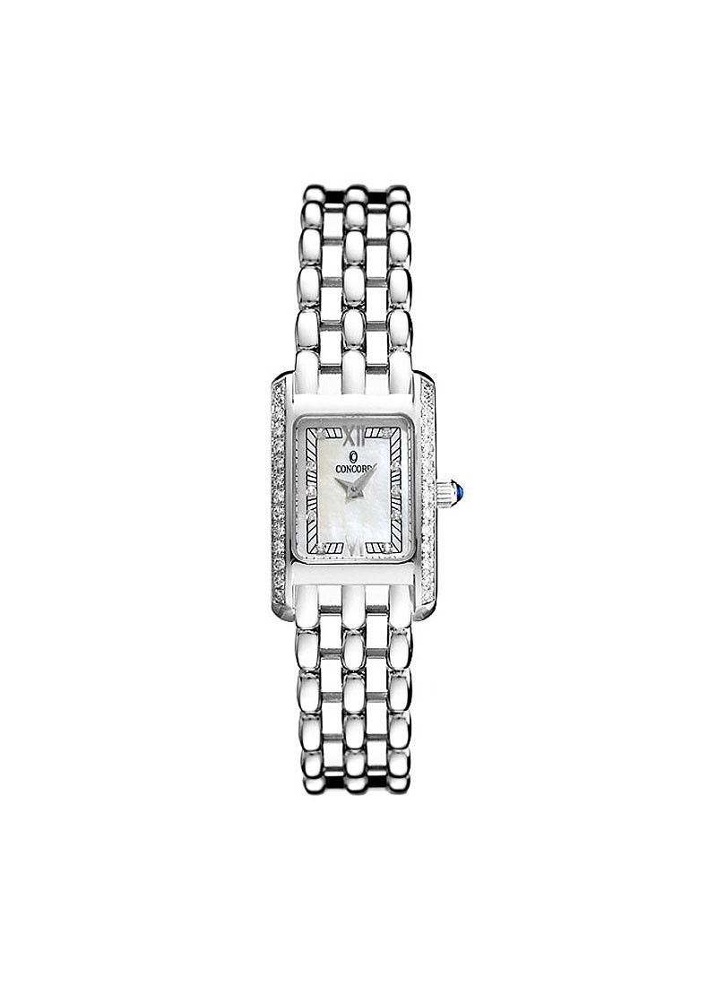 Concord Veneto Mini - Partial in White Gold with Diamond Bezel