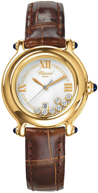 Chopard Happy Sport Round 32mm in Yellow Gold
