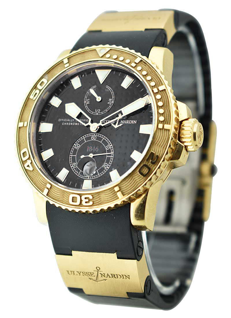 Ulysse Nardin Maxi Marine Diver Chronometer in Rose Gold