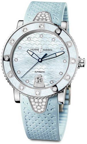 Ulysse Nardin Lady Marine Diver 40mm Automatic in Steel with Diamonds Bezel