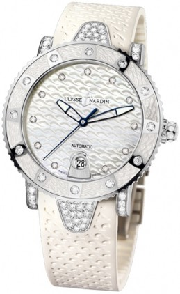 Ulysse Nardin Marine Diver in Steel with Diamond Bezel