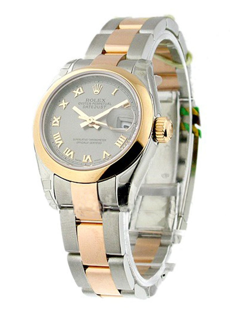 Rolex Unworn Datejust Ladies 26mm in Steel with Rose Gold Smooth Bezel