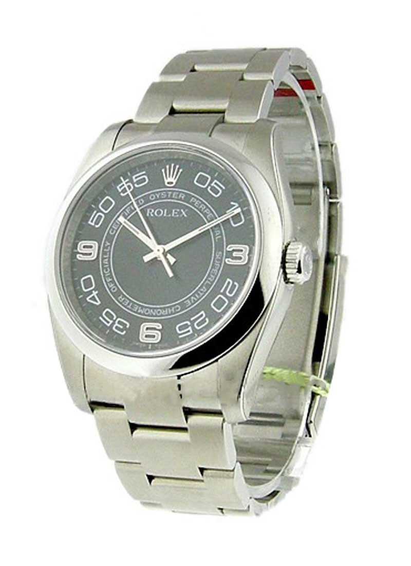 Rolex Unworn Men's Oyster Perpetual No Date in Steel with Doomed Bezel