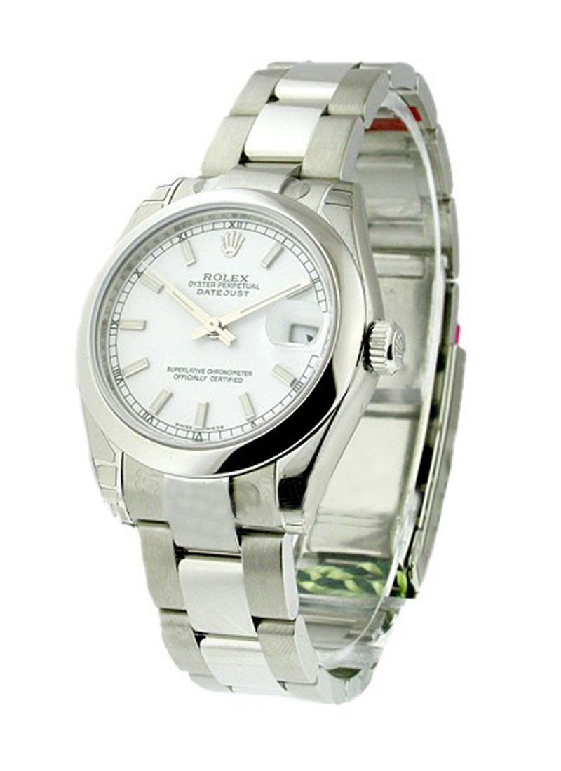 Rolex Unworn Mid Size DATEJUST with Oyster Bracelet