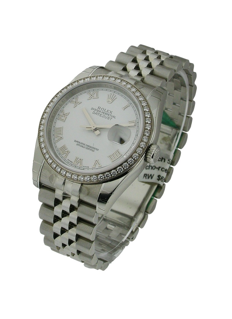 Rolex Unworn Men's Datejust with Diamond Bezel