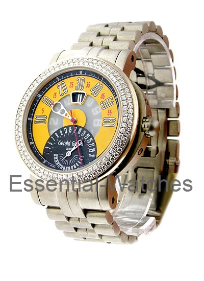 Gerald Genta Arena Bi-Retro  with Diamond Bezel in Titanium