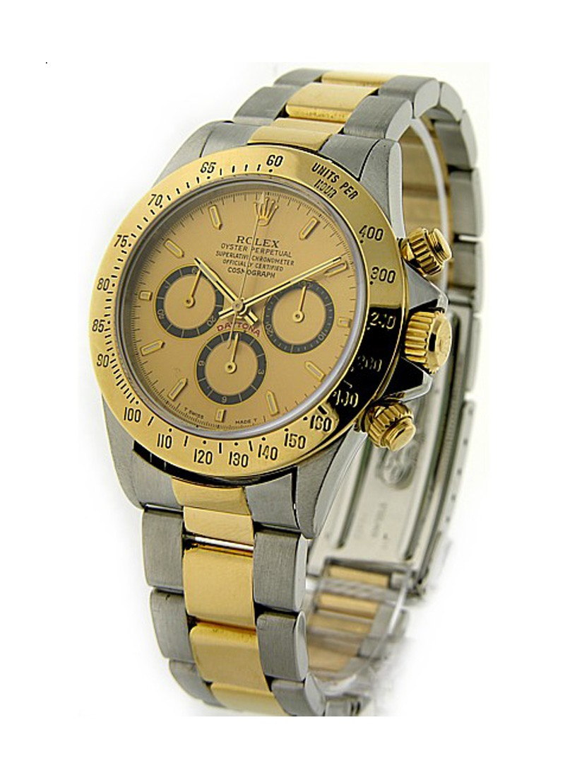Rolex Used Daytonain Steel with Yellow Gold Turn O Graph Bezel