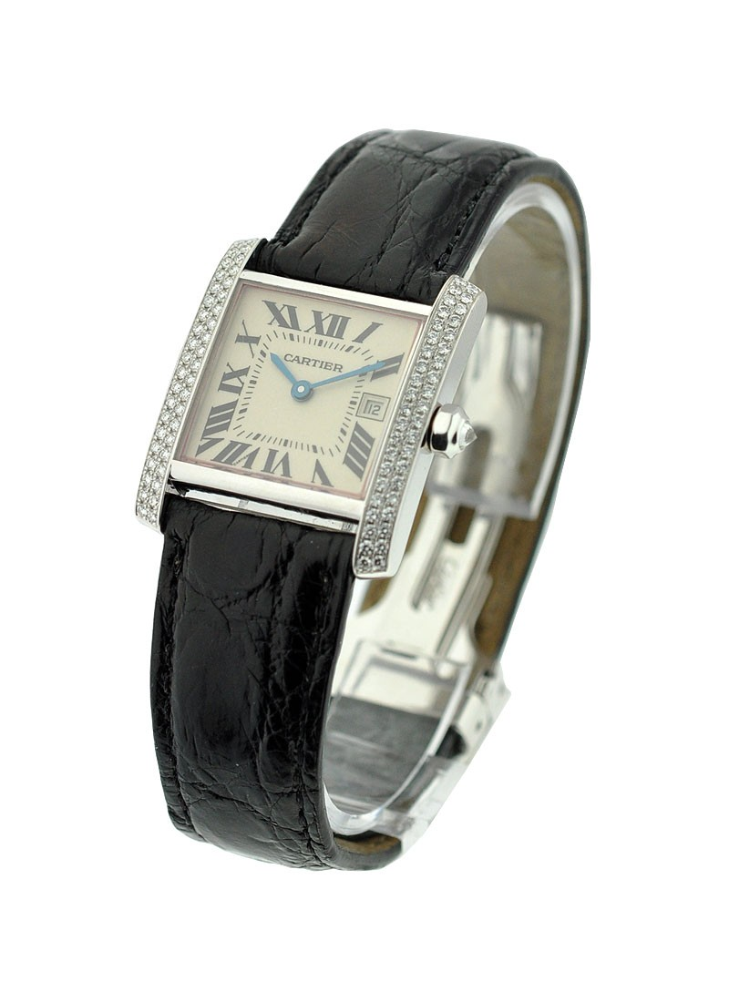 Cartier Tank Francaise Mid-size with Diamond Bezel