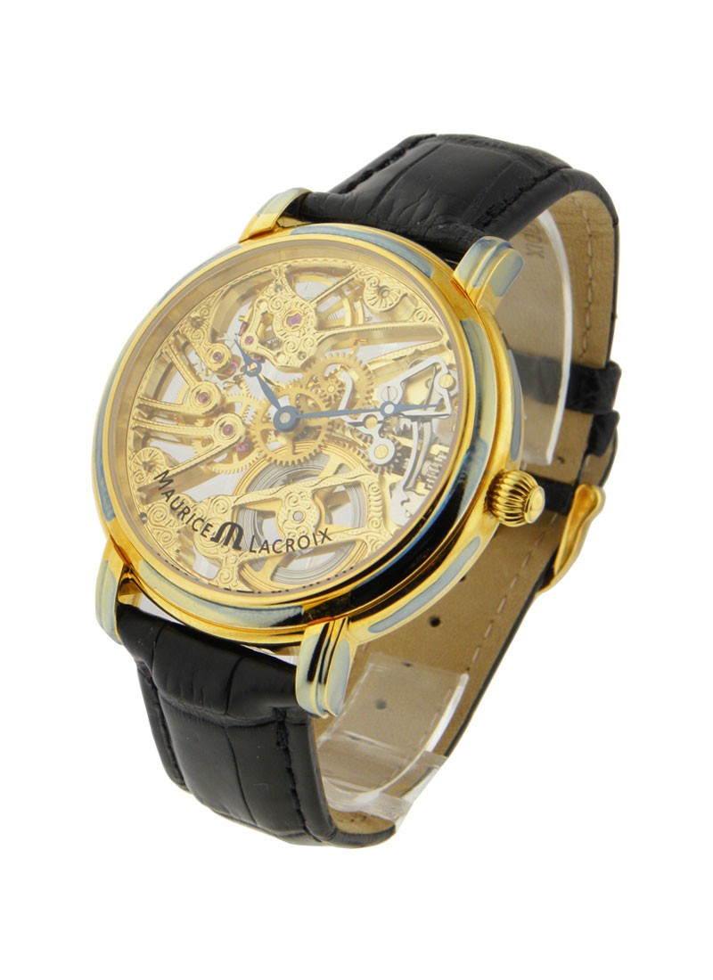 Maurice Lacroix Masterpiece Squelette in Yellow Gold