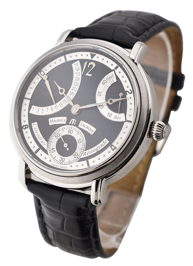 Maurice Lacroix Masterpiece Calendrier Retrograde in Steel