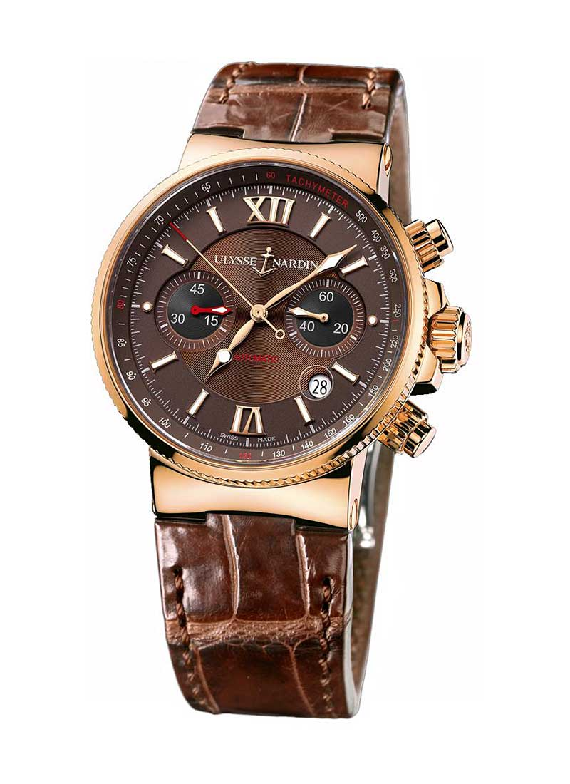 Ulysse Nardin Maxi Marine Chronograph 41mm in Rose Gold