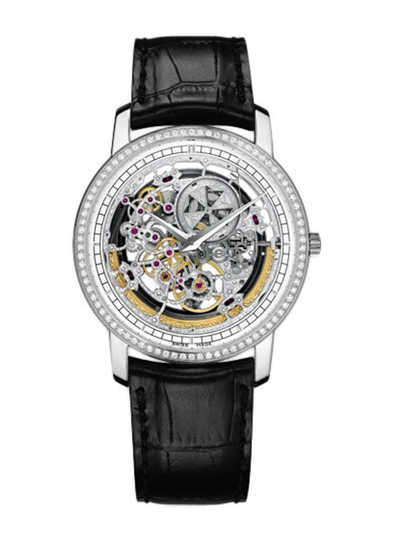 Vacheron Constantin Patrimony Traditionnelle Openworked Automatic in White Gold with Diamond Bezel