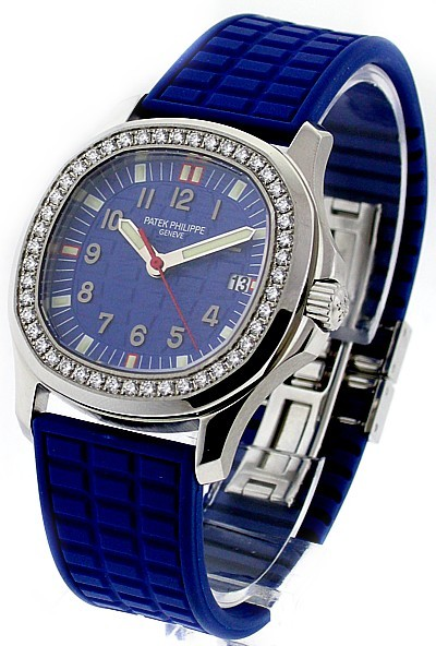 Patek Philippe 4961A  -  Aquanaut Luce with Diamond Bezel in BLUE