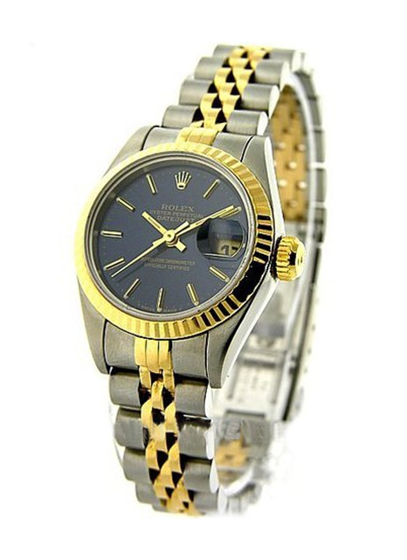 Pre-Owned Rolex Ladys 2-Tone Datejust in Steel with Yellow Gold Fluted Bezel
