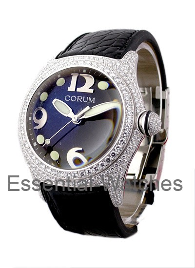 Corum Bubble in White Gold with Diamond Bezel