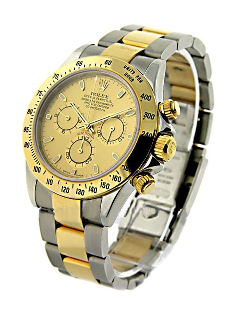 Rolex Used Daytona   Steel and Gold with Champagne Dial 16523