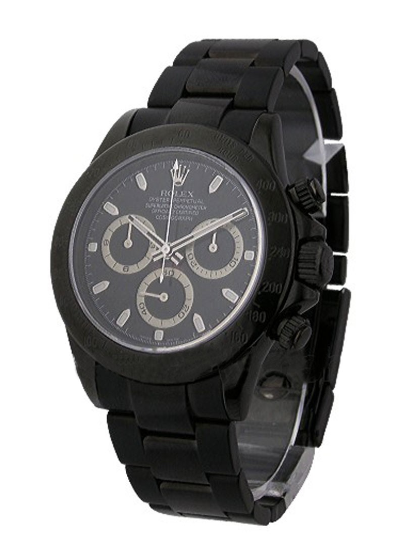 Rolex Used Daytona with Black DLC treatment Black Dial
