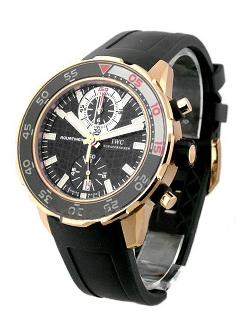 IWC Aquatimer Chronograph Wristwatch in Rose Gold