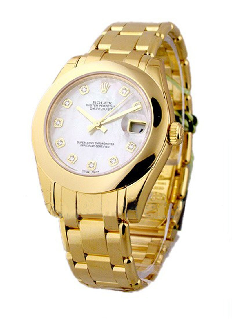 Rolex Unworn Masterpiece in Yellow Gold with Smooth Bezel