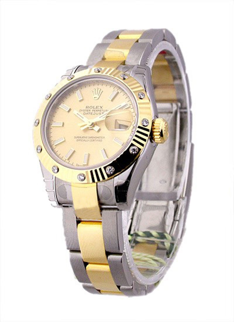 Rolex Unworn Lady's 2 Tone Datejust with Oyster Bracelet 179313
