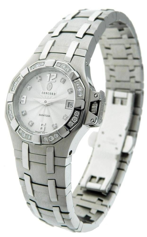Concord Saratoga Ladies Mini in Steel with Diamond Bezel