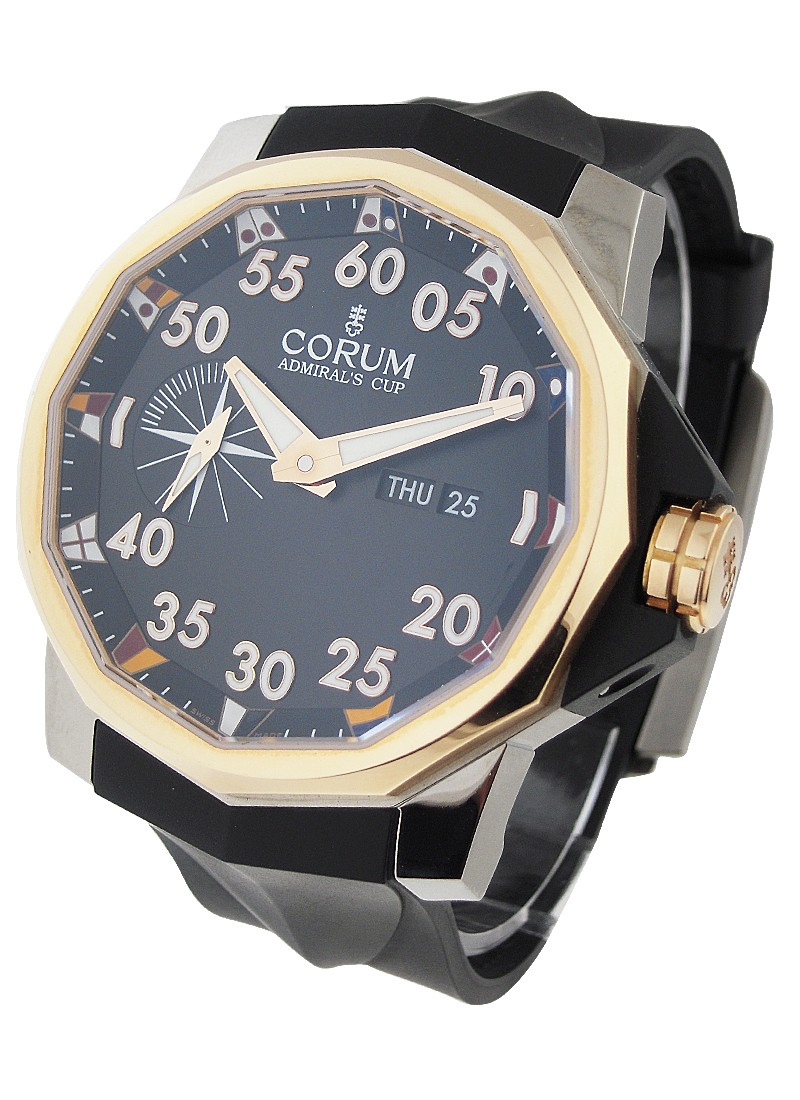 Corum Admirals Cup Competition 48mm in Titanium with Rose Gold Bezel