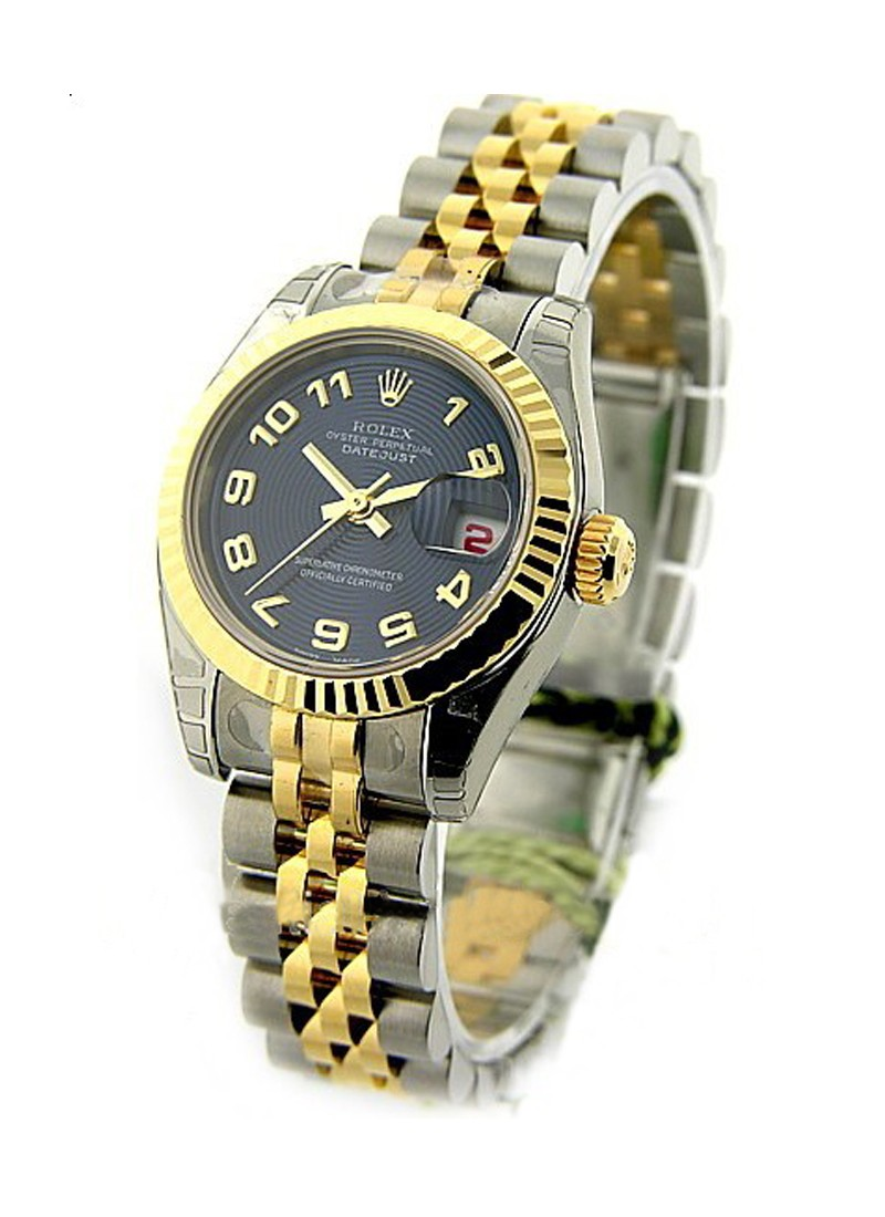 Rolex Unworn Datejust 26mm Ladies in Steel with Yellow Gold Fluted Bezel