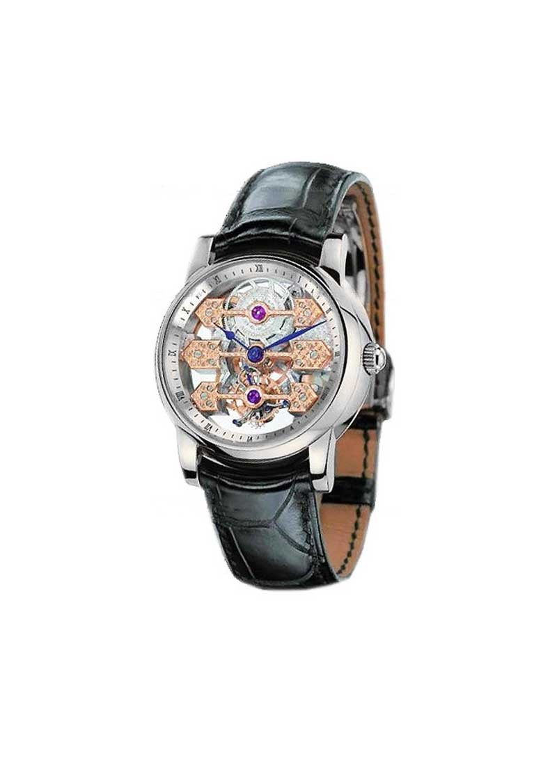 Girard Perregaux Tourbillon Triple Bridge - Men's in White Gold