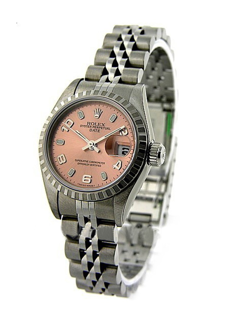 Rolex Used Lady's Date - 26mm - Engine Turned  Bezel