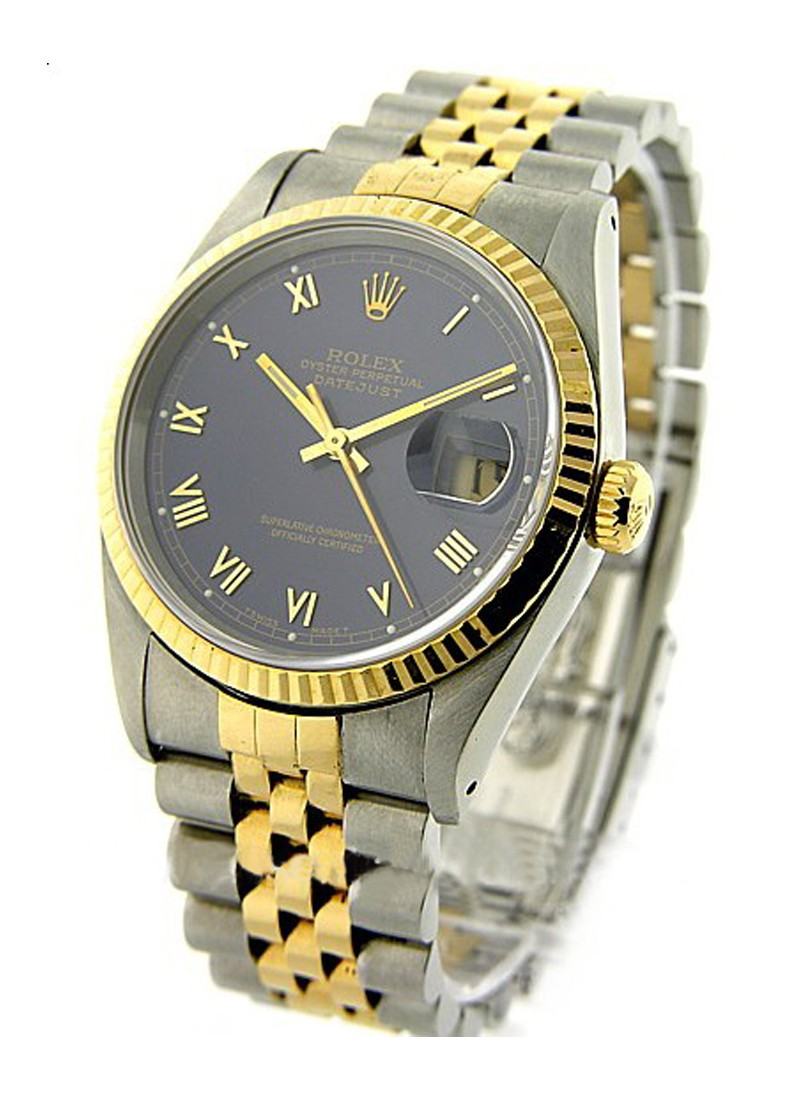 Rolex Used Mens 2 Tone Datejut