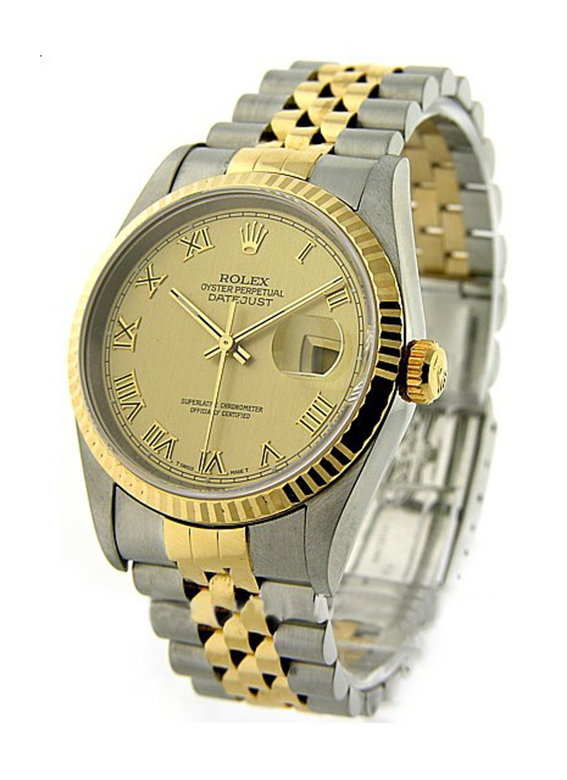 Rolex Used Mens 2 Tone Datejust with Jubilee Bracelet 16233
